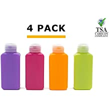 Lingito Travel Bottle Set, Leak Proof Travel Accessories, TSA Carry-On Approved, Refillable Travel Size Toiletries Containers. Bonus toothbrush and Clear Bag