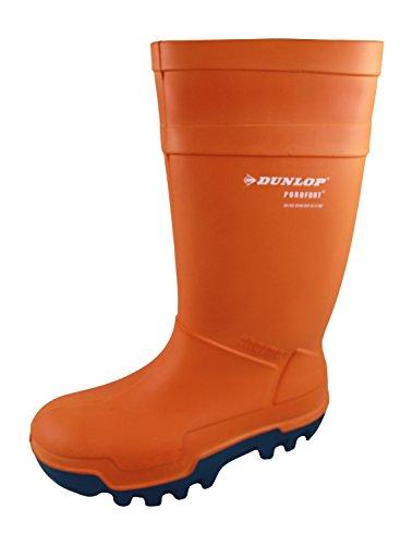Dunlop Purofort THERMO orange-Gummistiefel Welly Gummistiefel, isoliert, 5