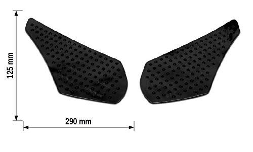 Motea Grip - Motorcycle Side Tank Pads, Large