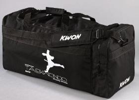 KWON® Sporttasche groß Large L Taekwondo, TKD, Tae Kwon Do, Taekwon Do, Tasche, Trainingstasche, Taschen Bag, schwarz, Trainingstaschen große Sporttaschen mit Schrift Aufschrift Druck Schriftzug Kampf