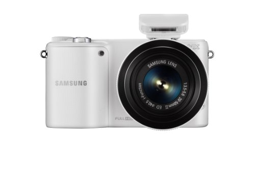 Samsung NX2000 20.3MP CMOS Smart WiFi Mirrorless Digital Camera with 20-50mm Lens and 3.7'' Touch Screen LCD (White) (Discontinued by Manufacturer) by Samsung (Image #1)
