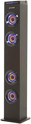 ART+SOUND AR1004 Bluetooth Tower Speaker With Lights, Floorstanding Tower For TV, Home Theater, Streaming Music, And FM Radio