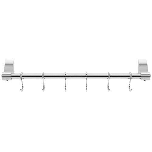 46.81 x 7.39 x 6.19 cm 6 Hooks Stainless Steel Silver Stellar Hanging Rack 42 cm