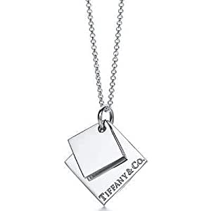 Tiffany And Co Pendant Double Cube Silver 073