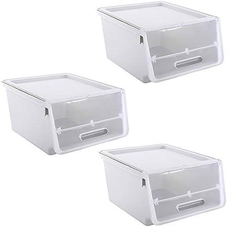 XYLZJ Voltear Caja De Acabado Plástico Ropa De Juguete Snacks Caja De Almacenamiento De Ropa Interior Paquete Transparente De Tres: Amazon.es: Hogar