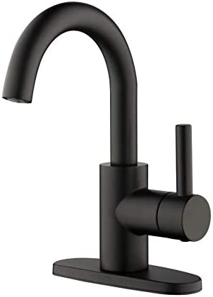 Shop Jacuzzi Duncan Matte Black 1-Handle 4-in Centerset WaterSense Bathroom Sink Faucet with Drain from Amazon on Openhaus