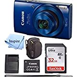 : Canon PowerShot ELPH 190 Digital Camera COMPLETE BUNDLE w/10x Optical Zoom and Image Stabilization Wi-Fi & NFC Enabled + ELPH 190 Case + SD Card + USB Cable +32 GB MEMORY