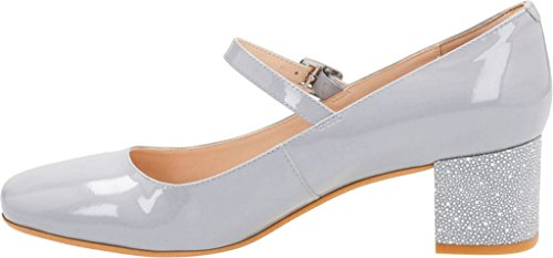 M Clarks US Mary 8 Chinaberry 5 Women's Pop Grey Blue Patent Jane Leather SqSg7rz