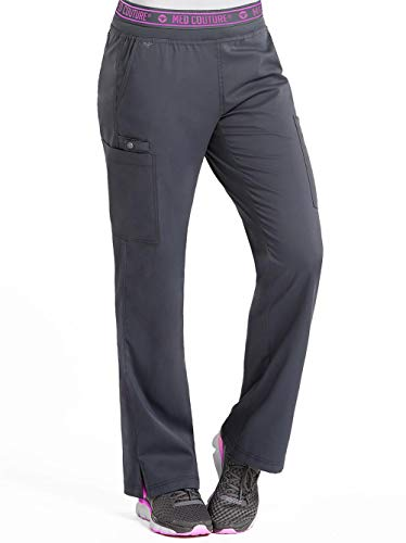 Med Couture Touch Women's Yoga 2 Cargo Pocket Scrub Pant, Pewter, Large from Med Couture