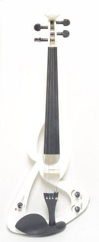 ViolinSmart EV20 Electric Violin (4/4 Full Size, Color: White)