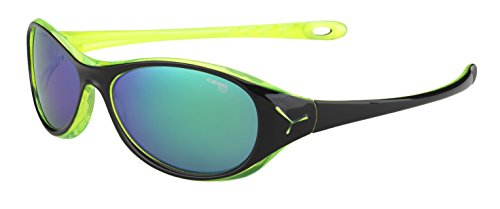 Cébé GECKO Lunettes de soleil Gecko Shiny Black Cristal Yellow 1500 FM Green