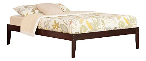 Atlantic Furniture Concord Bed with Open Foot Rail, Queen, Antique (Contemporary Walnut Bed)