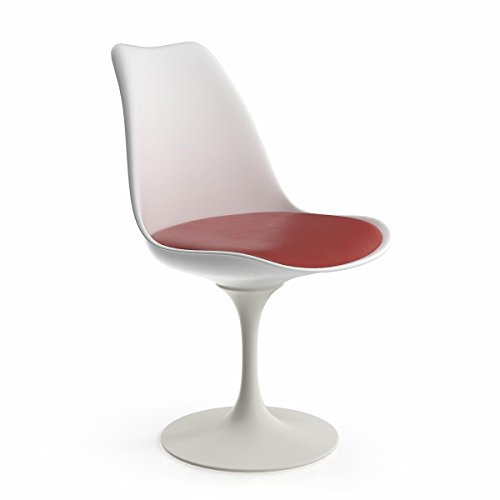 Saarinen Style Tulip Side Chair, Red