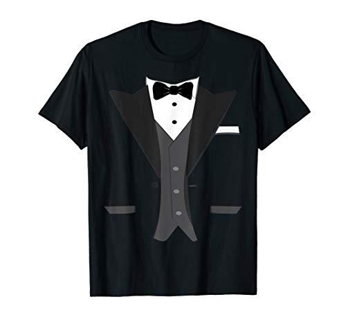 Tuxedo Halloween Wedding Groom Prom Costume Funny T-shirt