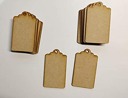 Wooden MDF Christmas Baubles Tree Decoration 3mm Thick Gift Tag Blank Laser Cut