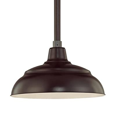 "Millennium Lighting RWHS14 R Series 14"" Warehouse Shade, Architectural Bronze"