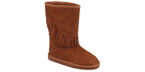 Stylish 91005 Camel Women's New Suede Boots Faux Sunville UF7Bgzq