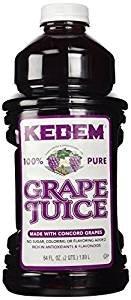 Kedem 100% Pure Grape Juice Gluten Free 64 Oz. Pack Of 3.