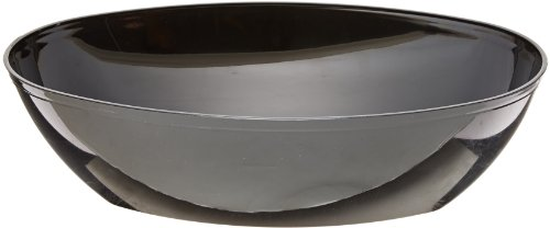 CaterLine Luau 64-Ounce Heavyweight Plastic Oval Serving Bowl, Black (50-Count)