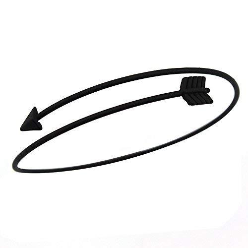 Engraving Western (patcharin shop Fashion Unisex Man Western Style Arrow Opening Bangle Cuff Bracelet)