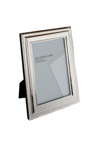 Viceni Silver Plated Bead Photo Frame, 4 by - Plated 4x6 Frame Photo Silver