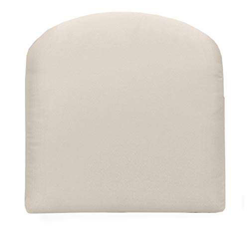 RSH Décor Indoor ~ Outdoor Solid Ivory Foam Contour U-Shape Chair Cushion ~ (22