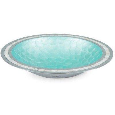 Classic 15'' Round Serving Bowl Color: Aqua, Blue