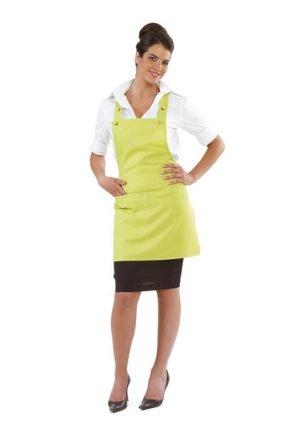 Grembiule corto con pettorina donna bar gelateria ristorante verde mela