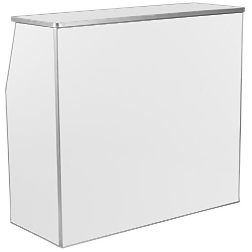 Flash Furniture 4' White Laminate Foldable Bar