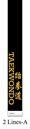 Martial Arts Belt Custom Embroidered Within 7 Working Days (2 (Martial Arts Black Belt)