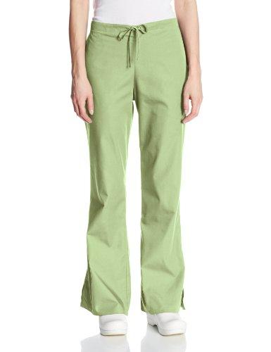Cherokee Women's Fashionable Flare-Leg Drawstring Pant, Sage Green, - Scrubs Sage