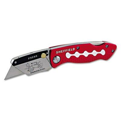 Sheffield Lockback Knife, 1 Utility Blade, Red, Sold as 1 Each