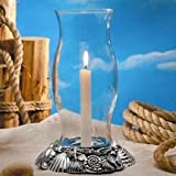 SILVER PLATED SEASHELL HURRICANE CANDLE HOLDER - Hurricane Candle holder