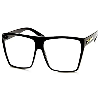 super oversized eyeglasses flat top square clear lens glasses frames