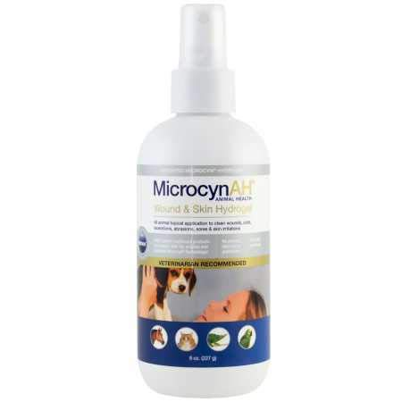 MicrocynAH Wound and Skin Care Sprayable Hydrogel, 8-Ounce by MicrocynAH