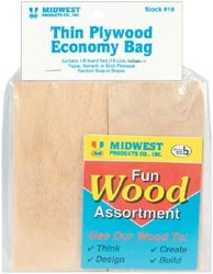 Midwest Products  Thin Plywood Economy Bag, One Package