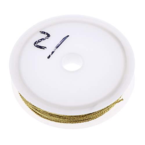 Baosity Metallic Tinsel Cord Rope, Multi-Strand Non Stretch Jewelry Making Gift Wrap Ribbon - 0.8mm Gold