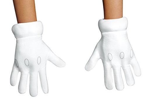Disguise Super Mario Gloves White -