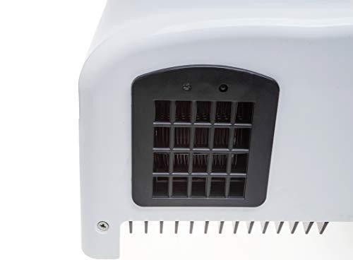 Secador de manos automático - Secador de manos eléctrico con un bajo coste de funcionamiento - Diseño excelente y adecuado para todas las áreas de poco ...
