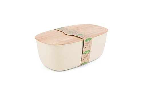 Peterson Housewares BF0265003WH1 Fiber Bread Bin with Bam...