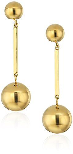 (kate spade new york Gold-Tone Linear Drop Earrings)
