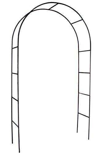 HIO Metal Black Garden Arch, 4'5