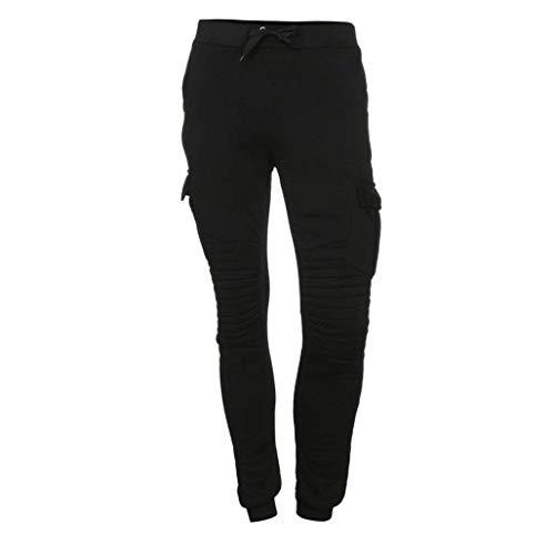 Suave Pantalones Estilo Otoño Moda Hombres De Chándal Holgados invierno Simple Paño La Ocasionales Del Vaqueros Grueso Y Negro Los rrZSwgq