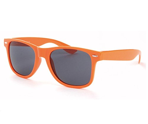 Orange Sunglasses Retro Vintage Mens Womens Non Polarized