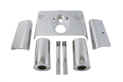 V-Twin 24-1266 Chrome Fork Cover (Fork Cover Kit)