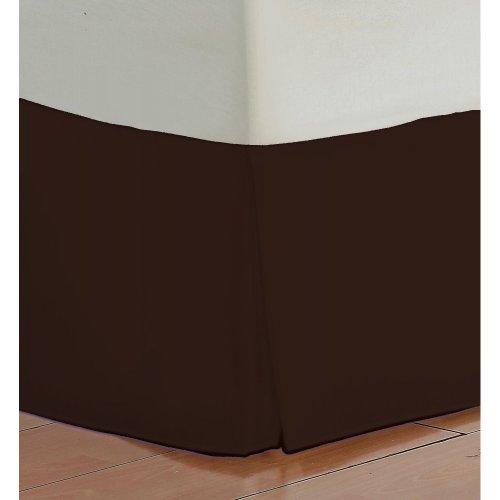 chocolate bed skirt cal king - 4