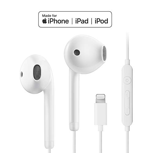 MFi-Certified Lightning Earphones Earbuds Headphones with Microphone and Remote Control Compatible with iPhone XR/XS/Xs Max/X iPhone 8/P iPhone 7/P in-Ear isooco S1