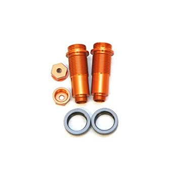 ST Racing Concepts STH85054O Threaded Aluminum Front Shock Set with Lower Caps and O-Rings for The HPI Blitz and E-Firestorm (1 Pair), Orange