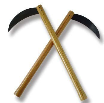 Playwell Martial Arts Wooden Kama W/ Blunt Steel Blades