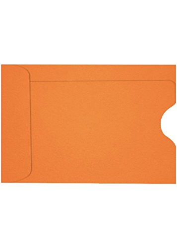 Credit Card Sleeve (2 3/8 x 3 1/2) - Mandarin (1000 Qty.) | Perfect for the HOLIDAYS, Gift Cards, Credit Cards, Debit Cards, ID Cards and More! | LUX-1801-11-1M by Envelopes.com